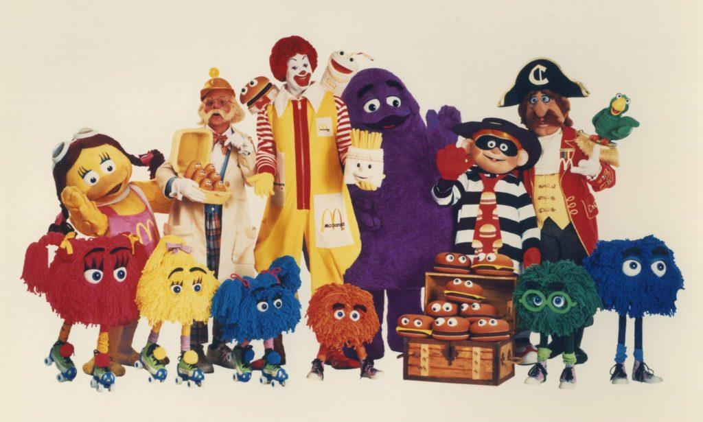 McDonalds cast characters Ronald Grimace