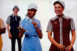 McDonalds 1980s uniform staff