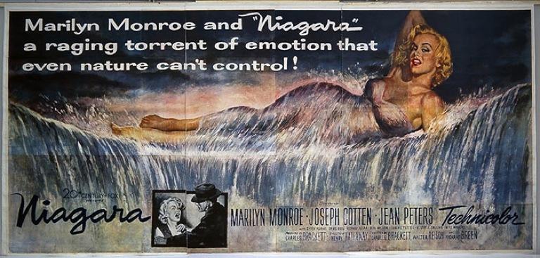 Niagara 1953 film noir movie poster Marilyn Monroe