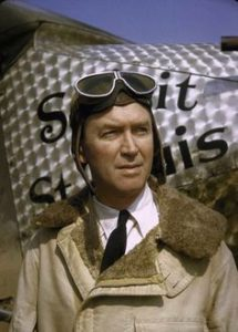 Jimmy Stewart as Charles Lindbergh in The Spirit of St Louis 1957 movie