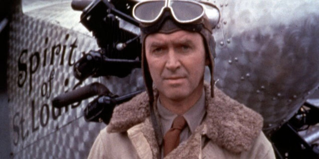 Spirit of St Louis 1957 movie Jimmy Stewart as Charles Lindbergh