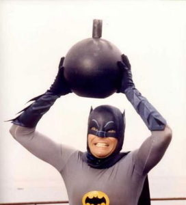 Adam West Batman Can't get rid of bomb