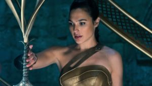 Gal Gadot as Wonder Woman Princess Diana sword