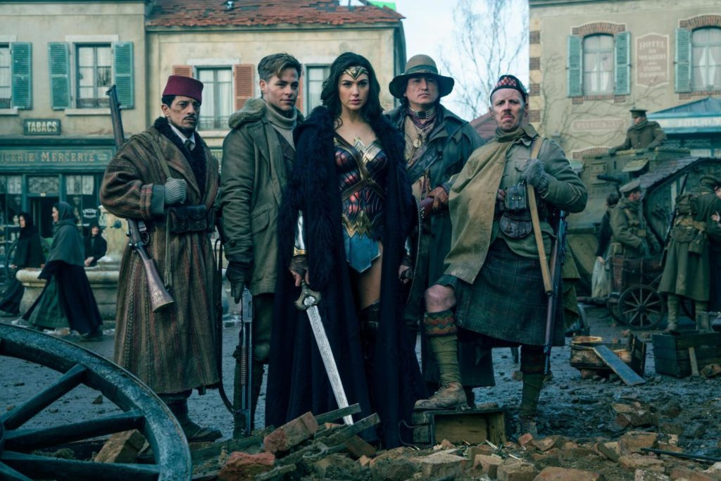 Wonder Woman movie 2017 Gal Gadot Chris Pine cast old photo