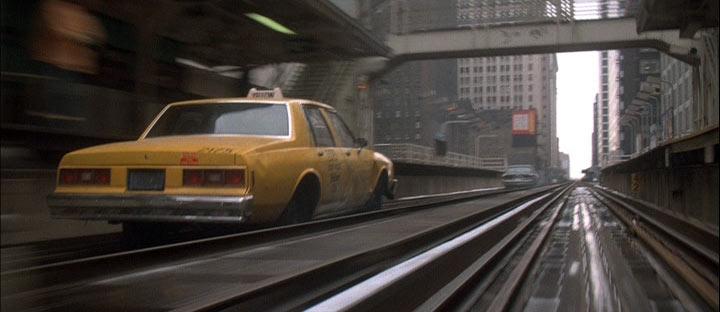 Running Scared 1986 cop movie car chase scene train