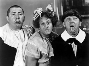 Three Stooges Moe Howard Larry Fine Curly comedy little kids