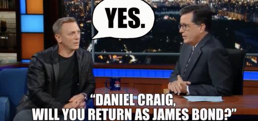 Daniel Craig return James Bond 25 007 Stephen Colbert