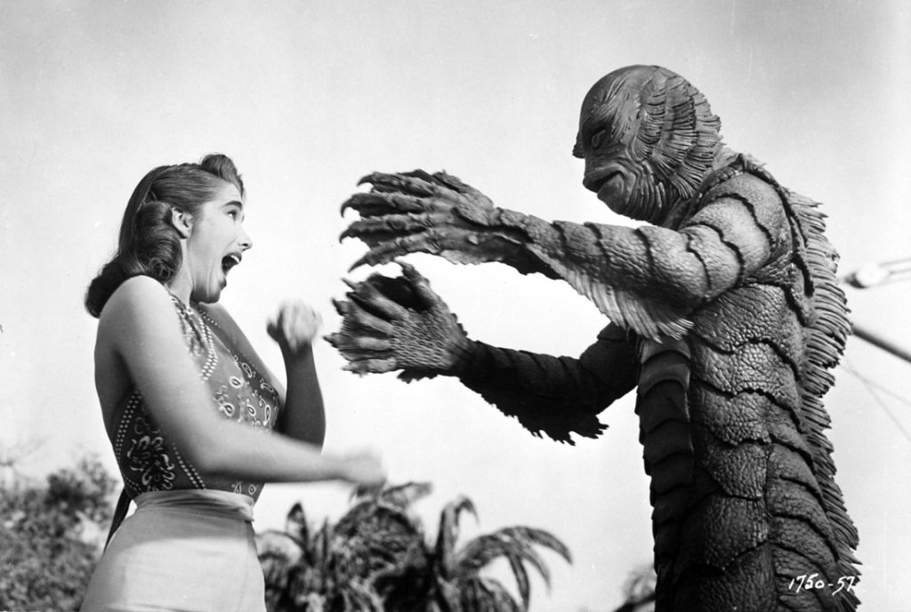 The Creature From The Black Lagoon 1954 monster horror movie Julie Adams