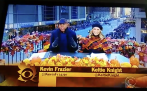 CBS Kevin Frazier Keltie Knight Thanksgiving Day Parade