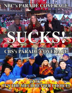 CBS NBC Thanksgiving Parade coverage broadcast show