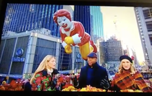 CBS Thanksgiving Day Parade Ronald McDonald balloon