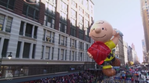Charlie Brown balloon Macys Thanksgiving Day Parade NBC