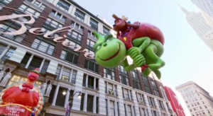 Grinch balloon NBC Thanksgiving Day Parade