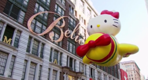 Hello Kitty balloon Macys Thanksgiving Day Parade