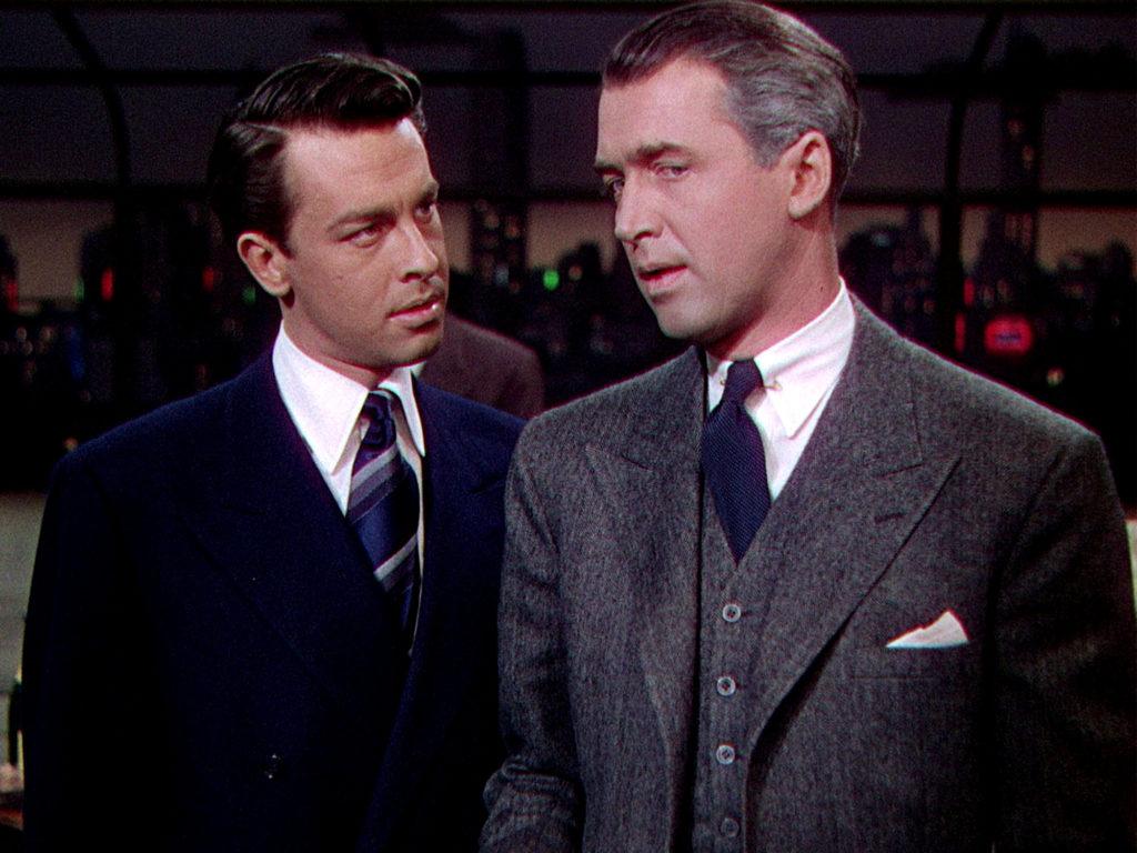 Jimmy Stewart John Dall Rope 1948 Alfred Hitchcock movie