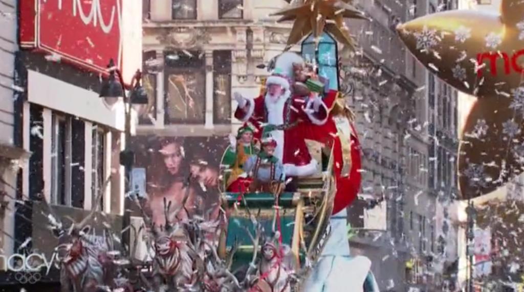 Santa Claus Macys Day Parade Thanksgiving Christmas