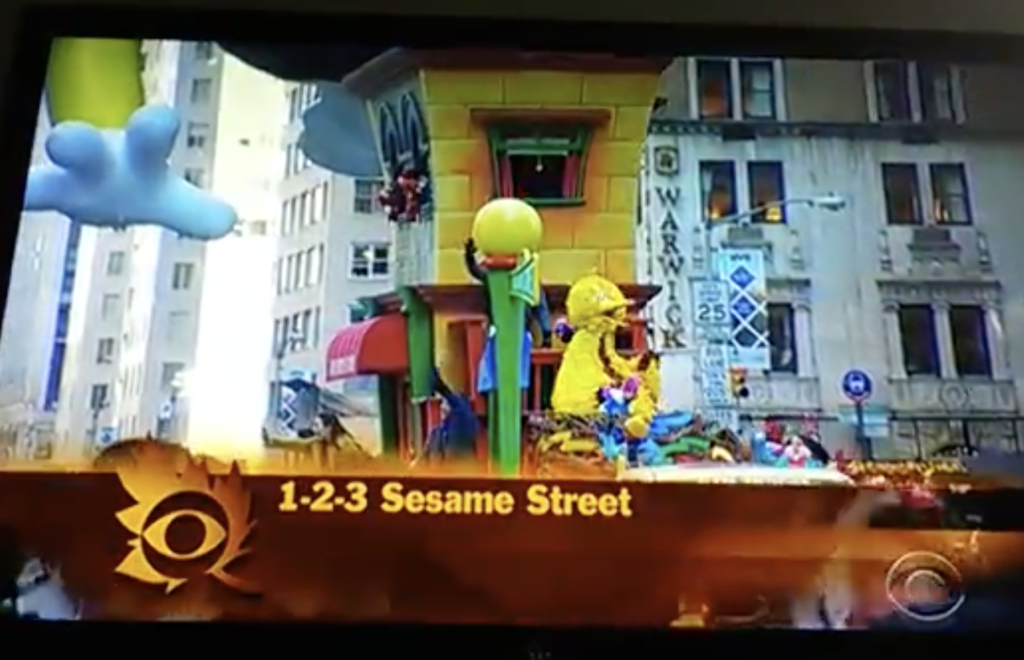 Sesame Street float Thanksgiving Day Parade