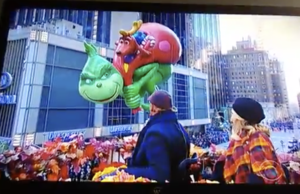 The Grinch balloon CBS Thanksgiving Day Parade