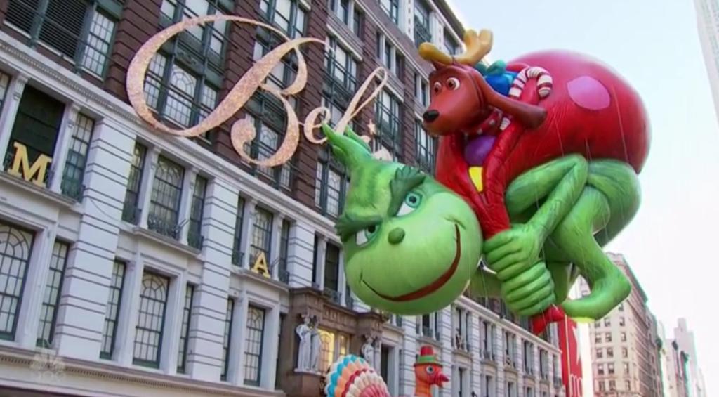 The Grinch balloon Macys Thanksgiving Day Parade