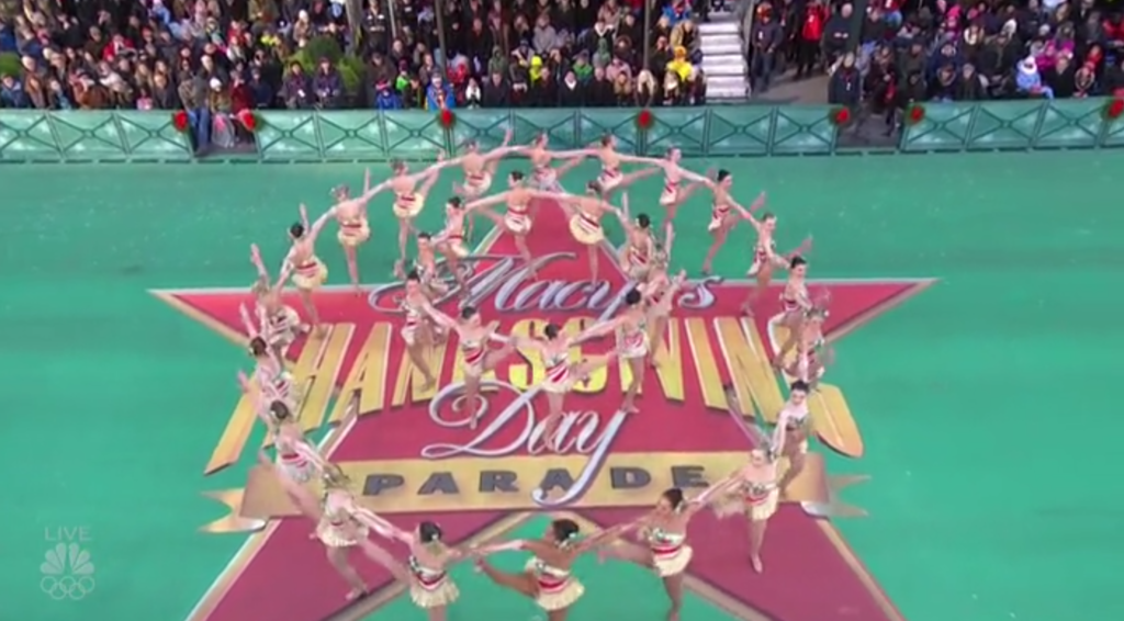 The Rockettes Thanksgiving Day Parade Performance