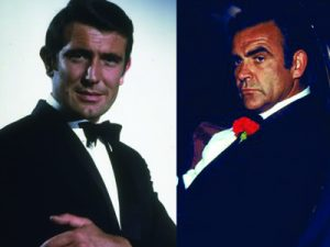 George Lazenby Sean Connery James Bond