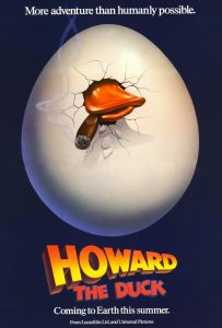 Howard Duck movie poster 1986