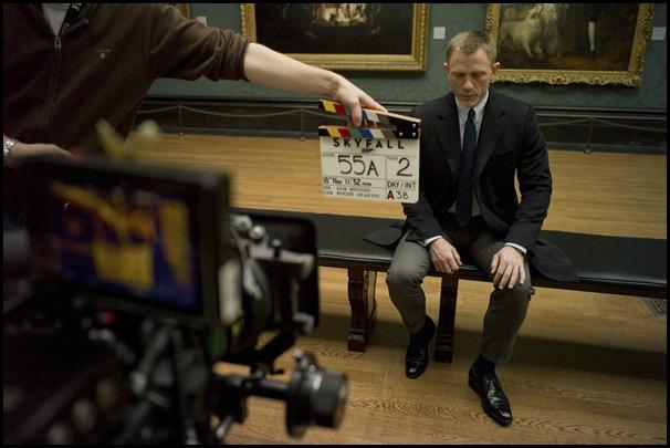 Skyfall behind the scenes filming Daniel Craig as James Bond