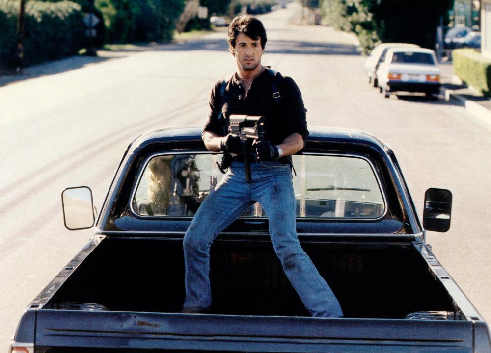 Cobra 1986 Sylvester Stallone action scene
