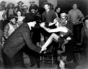 Destry Rides Again 1939 barroom fight Jimmy Stewart Marlene Dietrich
