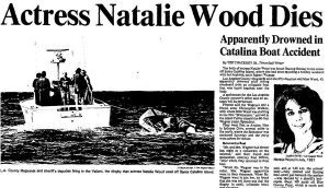 Natalie Wood death headline 1981 news