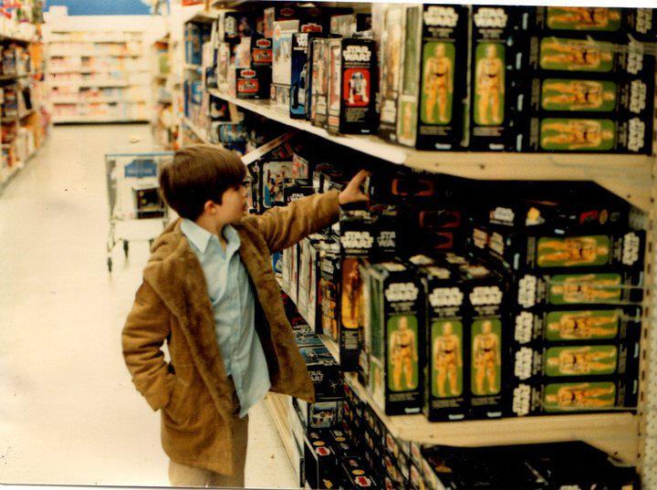 Star Wars toys Toys R Us retro shopping kid