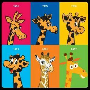 Toys R Us Geoffrey Giraffe evolution mascot