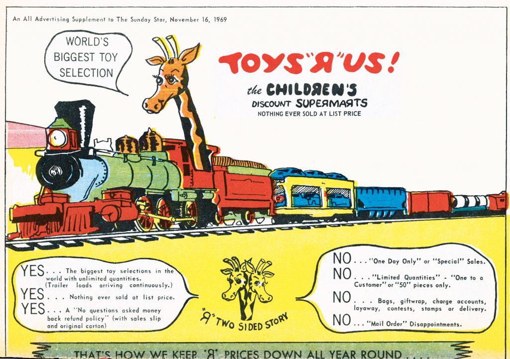 Toys R Us catalog geoffrey giraffe 1969 retro