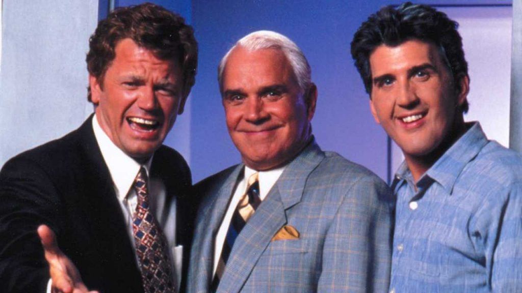 Late-Shift-1996-TV-movie-David-Letterman-Johnny-Carson-Jay-Leno-John-Michael-Higgins-Rich-Little-Daniel-Roebuck