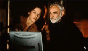 Catherine Zeta Jones Sean Connery Entrapment 1999 thriller heist action movie