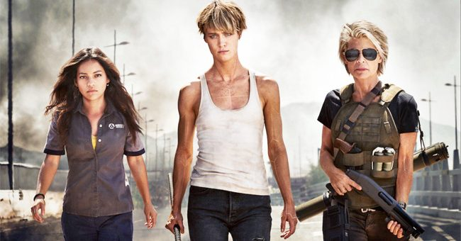 Terminator 6 Linda Hamilton Mackenzie Davis Natalia Reyes