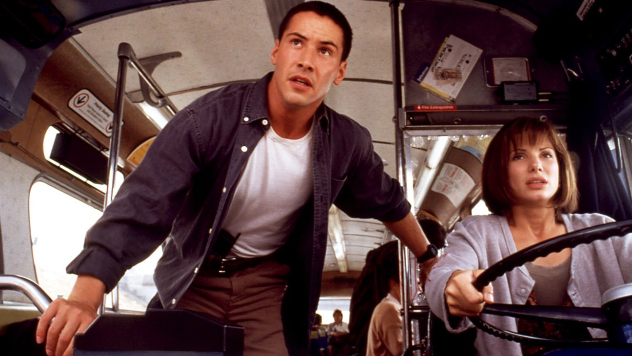 Speed 1994 action movie Keanu Reeves Sandra Bullock