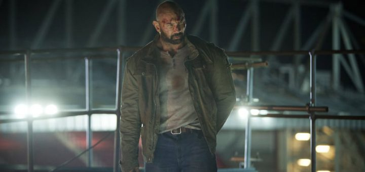 Dave Bautista Final Score 2018 action movie soccer stadium