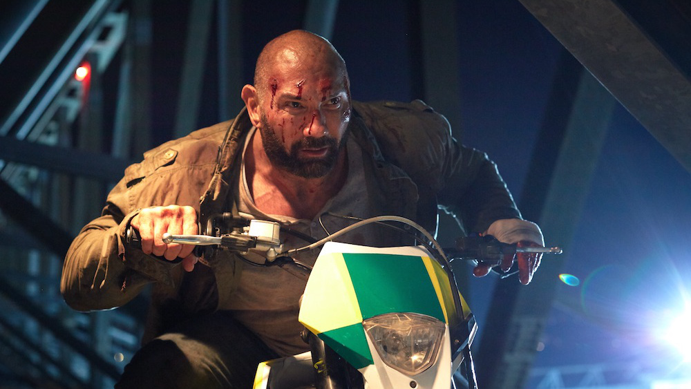 Dave Bautista Final Score 2018 action movie motorcycle