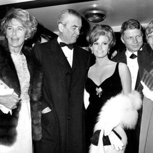 Jimmy Stewart Raquel Welch Flight of the Phoenix premiere 1965