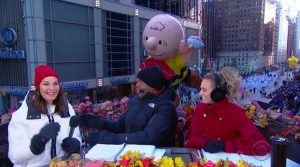 Macys Thanksgiving Parade CBS Sela Ward Charlie Brown balloon
