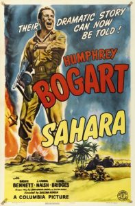 Sahara 1943 war movie poster Humphrey Bogart