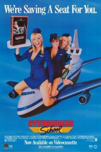 Stewardess School 1986 comedy VHS poster