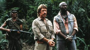 Chuck Norris Louis Gossett Firewalker 1986 Cannon action movie