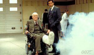 Desmond Llewelyn Pierce Brosnan GoldenEye gadget broken foot cast