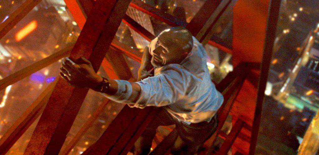 Dwayne Johnson Skyscraper 2018 CGI stunt bad movie