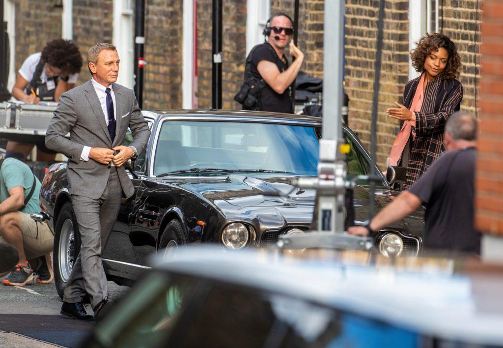 Bond 25 No Time To Die Daniel Craig Naomie Harris filming