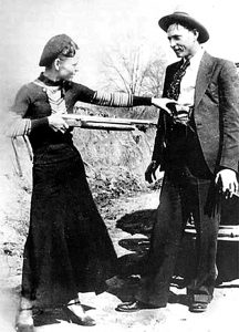 Bonnie Clyde partner in crime dating expression