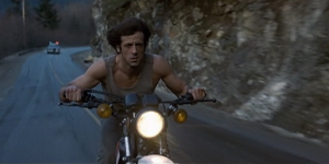 First Blood Sylvester Stallone 1982 motorcycle chase action movie