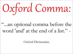 Oxford comma online dating profile cliche